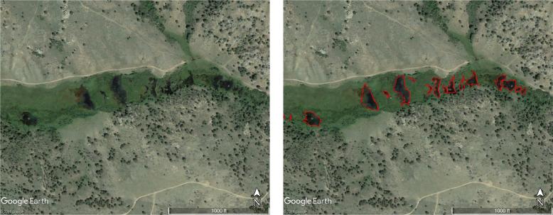 mapped comparison close up
